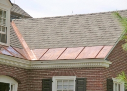 Shingles with Copper Ice Belt