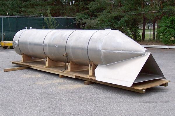 Underwater Research Torpedo Made of Marine Grade Aluminum